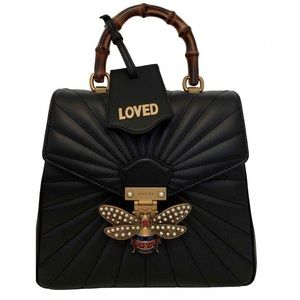 Gucci Queen Margaret Leather Backpack